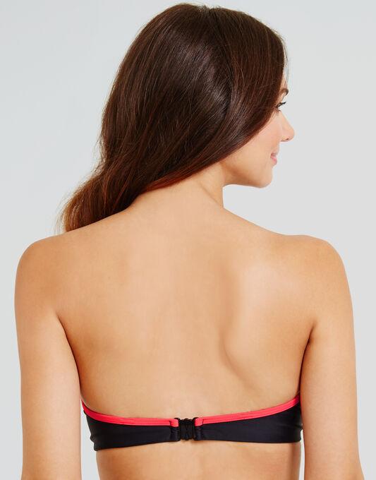 figleaves Rita Chevron Underwired Bandeau Bikini Top