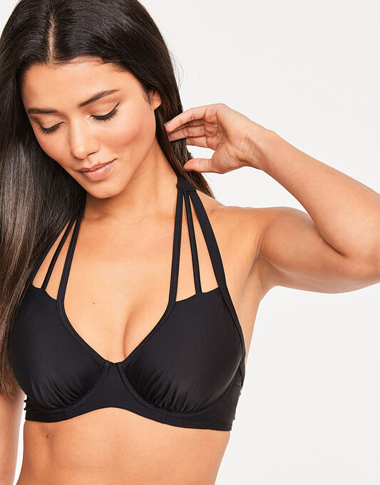 figleaves Rene Underwired Strapping Non Padded Bikini Top