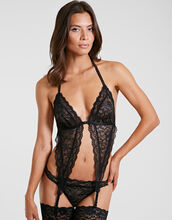 Boite A Desir Triangle Bra With Suspenders