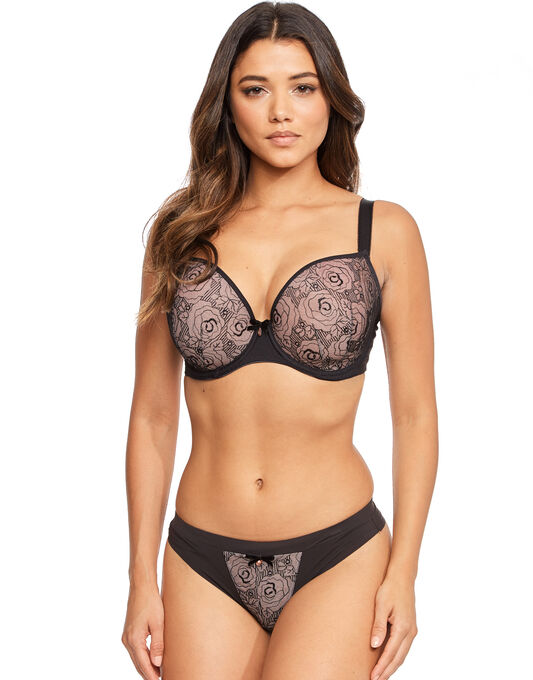 Deco Darling Underwired Moulded Plunge Bra