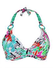Mardi Gras Underwired Banded Halter Bikini Top