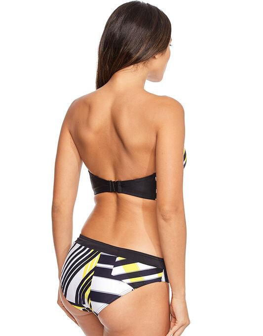 figleaves Geo Vibe Underwired Longline Bandeau Bikini Top