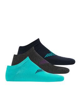 Emporio Armani Stretch Cotton 3 Pack Trainer Sock