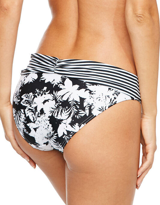 figleaves Mono Tropic Ruched Fold Brief