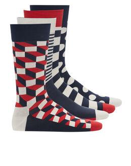 Happy Socks Spot And Stripe 4 Pack Sock Gift Box