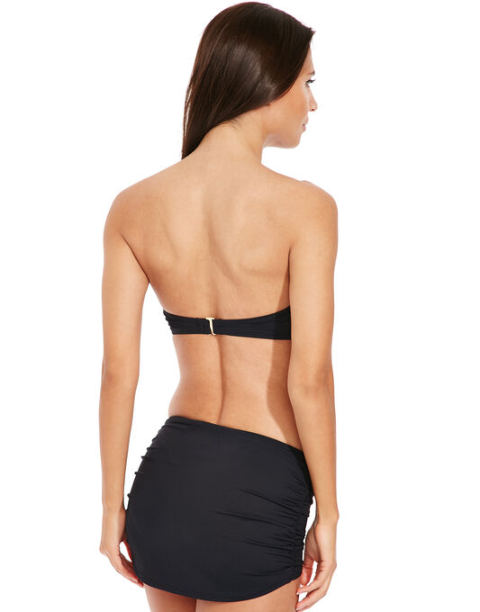 Michael by Michael Kors Draped Solids Long Bar Bandeau Bikini Top