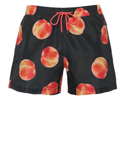 Paul Smith Peach Print Classic Swim Short