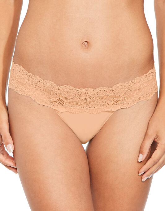 figleaves Microfibre And Lace 3 Pack Thong