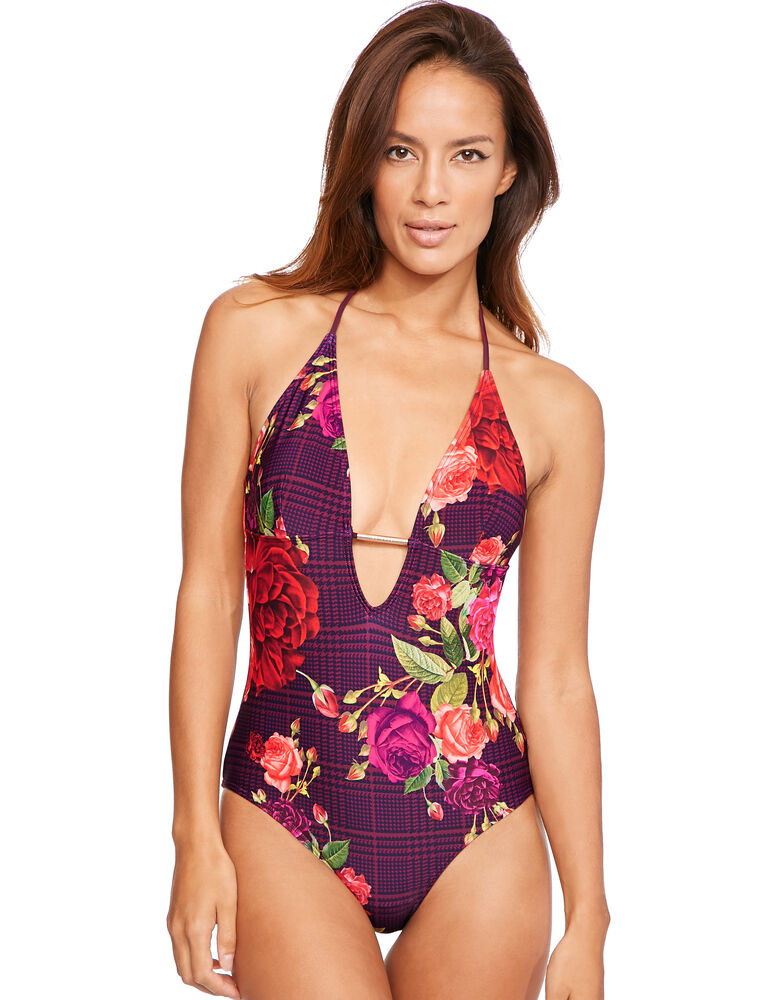 Juxtapose Rose Swimsuit