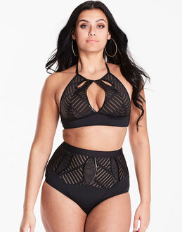 figleaves curve Figleaves High Neck Embellished Bikini Set