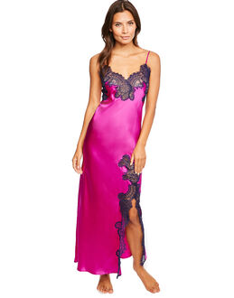 figleaves Sophia Silk and Lace Long Chemise
