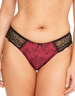 Marie Meili Joelle Satin and Lace Brief