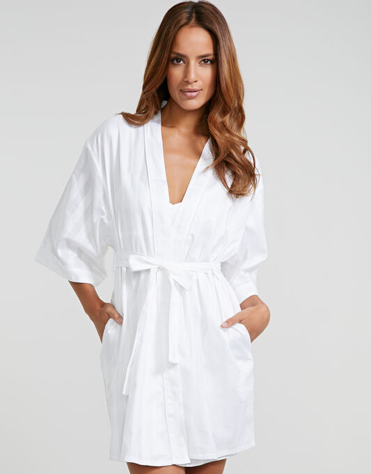 Bodas Cotton Nightwear Short Robe