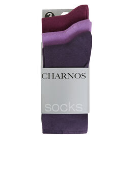 Charnos Hosiery Plain Comfort Top Sock 3 pack