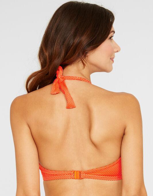 Freya Swim Cherish Pin Spot Underwired Banded Halter Bikini Top