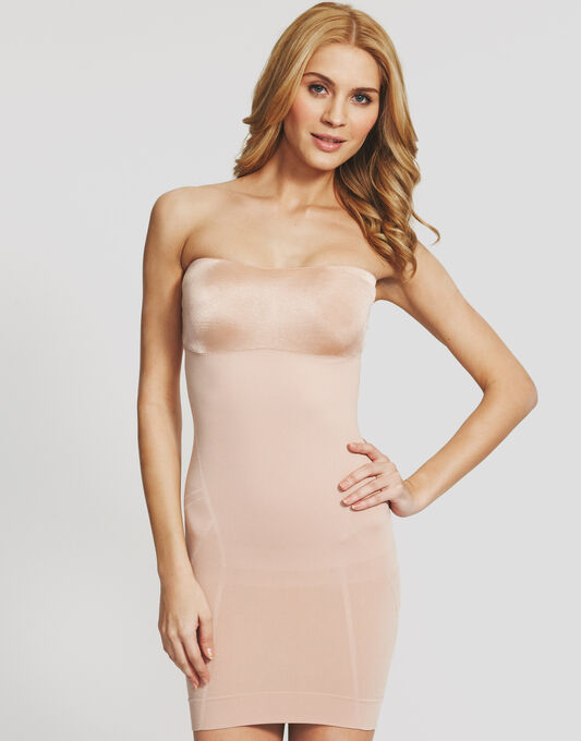 Spanx Slimmer And Shine Strapless Slip
