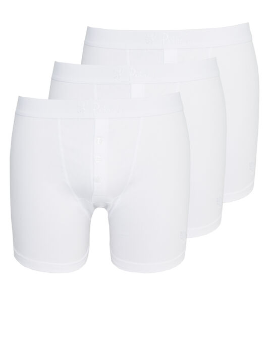 3 Pack Cotton Button Boxer