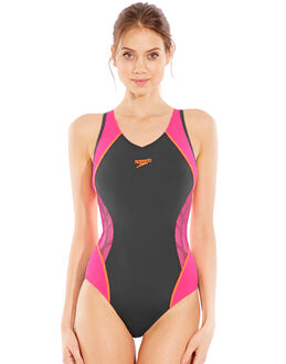 Speedo Fit Splice Allover Muscleback Swimsuit