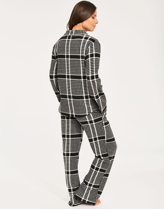 DKNY Fierce Chills Folded Fleece L/S Notch Top & Pant Set