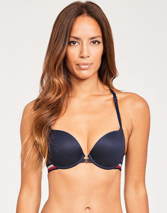 Tommy Hilfiger Bianca Lace Stripe Push Up Bra
