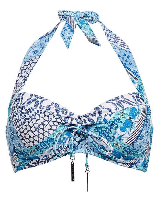 Seafolly Blue Bazaar Soft Cup Halter Bikini Top