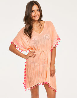 Seafolly Pacifico Mini Tassel Gauze Kaftan