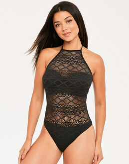 Freya Swim Sundance Underwired High Neck Cutout Swimsuit