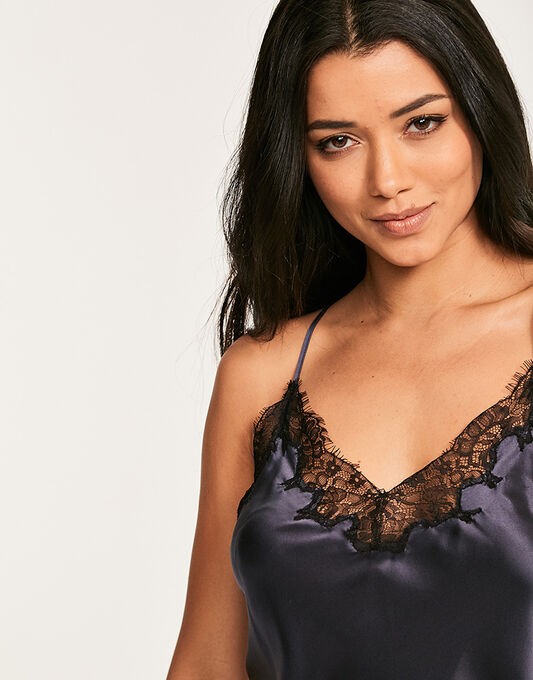 figleaves Lana Pure Silk and Lace Chemise