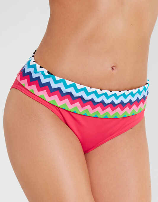 Cindy Chevron Fold Bikini Brief
