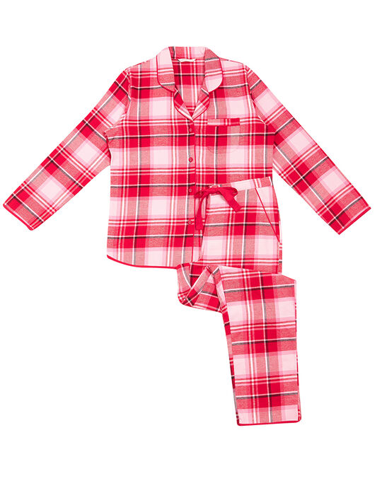 Cyberjammies Erin Check Top + Pant Set