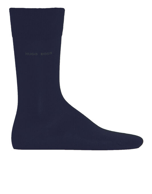 Mercerised Cotton Logo Socks