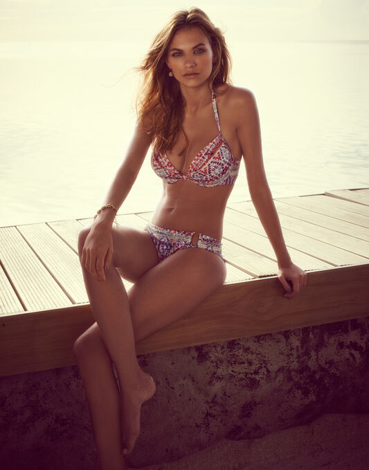 figleaves Inca Underwired Boosting A-D Halter Bikini Top