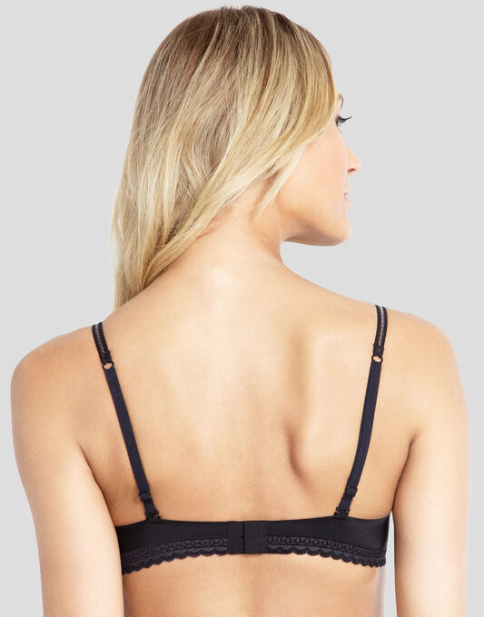 Ultrafines Little Black Contour Plunge Bra