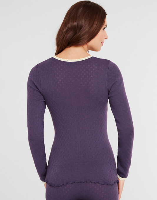 figleaves Pointelle Thermal Long Sleeve Top