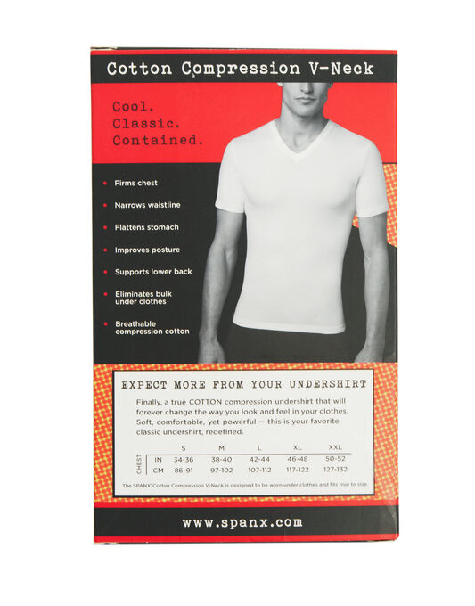 Cotton Compression V Neck T-shirt