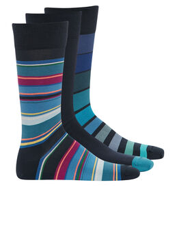 Paul Smith Striped 3 Pack Sock Gift Box