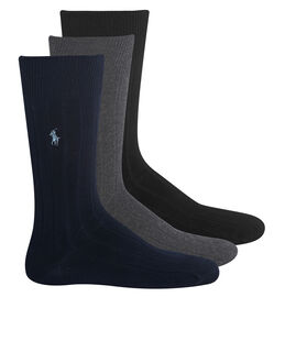 Polo Ralph Lauren Polo Player 3 Pack Crew Sports Sock