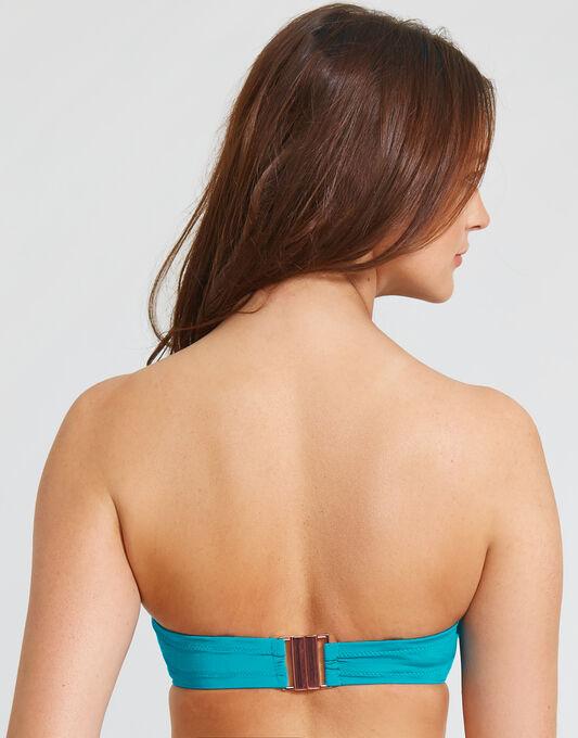 figleaves Maha Ruched Padded Underwired Bandeau Bikini Top
