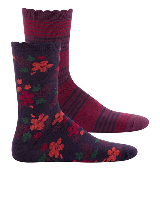 Charnos Hosiery Floral and Stripe Socks 2 Pack