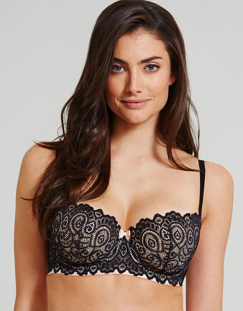 Balconette Bras in D+ Cup Sizes. Balconette bras are a three quarter bra designed to create a natural looking cleavage. Balconette bras are suitable for any shape of breast and can be worn as an every-day bra.