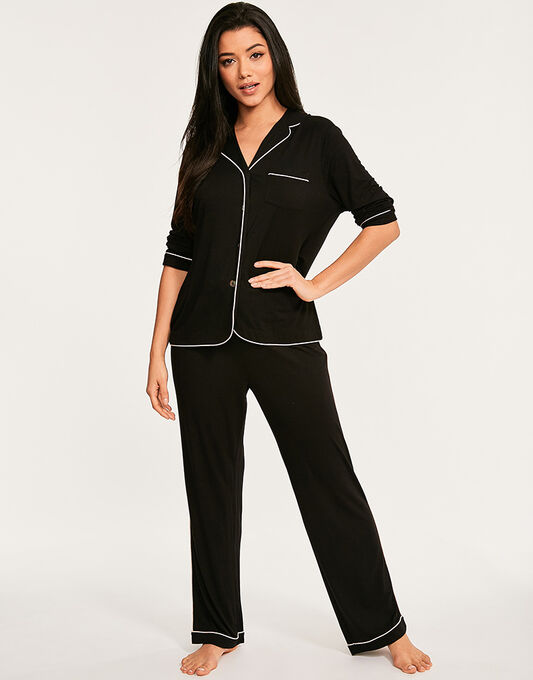 figleaves Camelia Soft Touch Button Through PJ Set