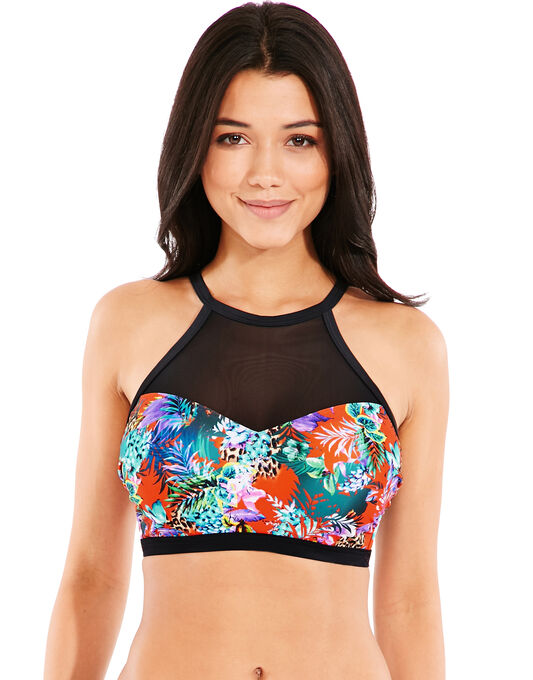 figleaves Sunset Beach High Neck Underwired Bikini Top