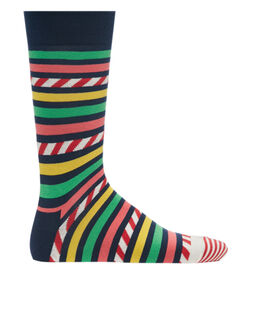 Happy Socks Stripes And Candy Cane Sock