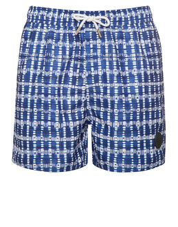 Native Youth Shibori Gingham Swim Short