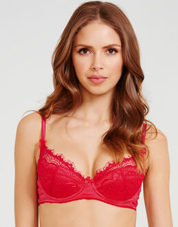 Mimi Holliday Bisou Bisou Strawberry Split Fully Padded Silk Super Plunge Bra