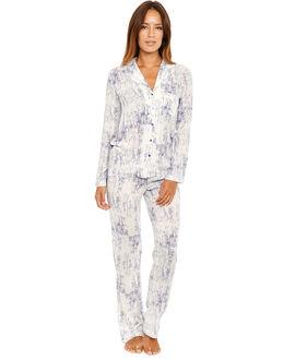 Calvin Klein Woven Long Sleeve PJ Top