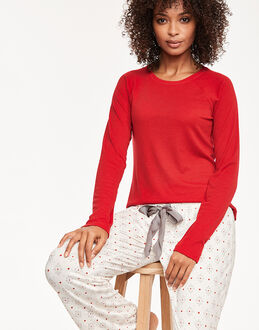 Maidenform Sleepwear Brushed Knit Shirt and Pant Set