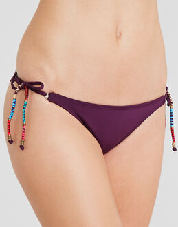 Sofia by Vix Solid Berry Long Tie Hipster Brief
