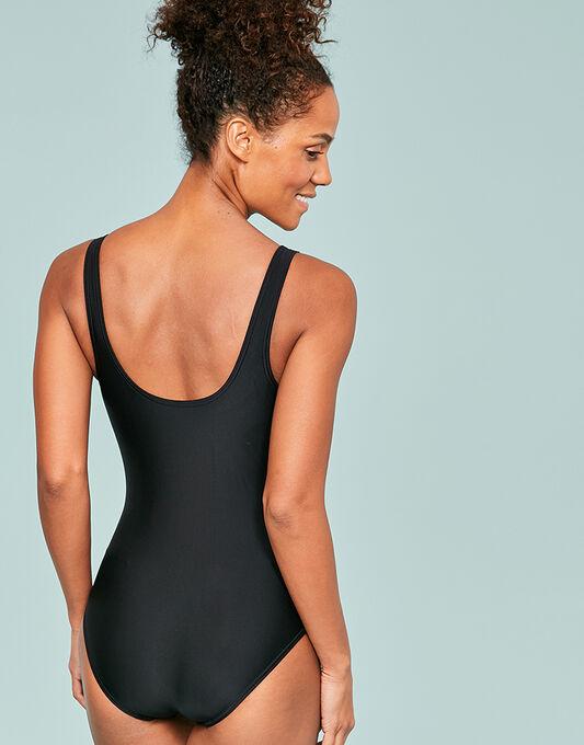 Zoggs Black Modern Chic Sandon Scoopback Swimsuit
