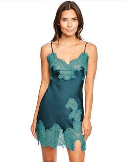 figleaves Sophia Silk and Lace Short Chemise